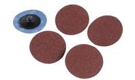 Silverline 5-delige 50 mm snel-wissel schuurschijven set
