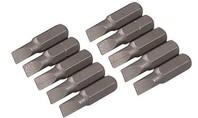 Silverline Cr-V schroevendraaier bits, 10 pk. SLEUF