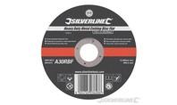 Silverline 'Heavy-Duty' metaal snijschijf, plat