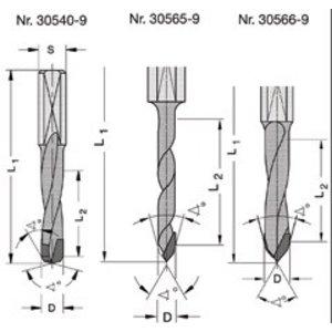 Trasco Diamant drevelboren met spanvlak DP 30540 / 30565 / 30566