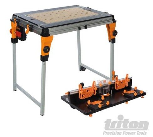 Triton work centre router table module mzs gereedschap for Banco fresa kreg
