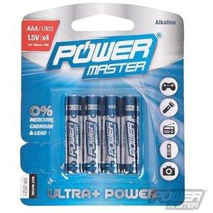 Power master AAA super alkaline batterij LR03, 4 pk.