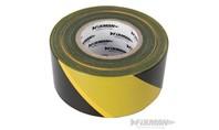 FIXMAN Afzetlint 70 mm x 500 m, geel/zwart