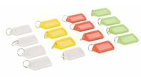 Silverline Gekleurde grote sleutelhangers, 16 pk