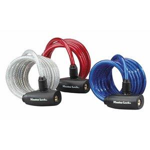 MasterLock 3 Kabelsloten, staal, 1,8m, Ø8mm, RGB
