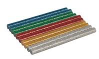 Silverline Glitter mini lijmstaven, 10 stuks