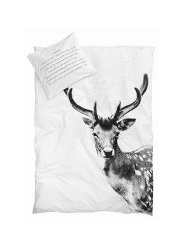 By Nord Duvet Cover Deer - 200x200cm - 100% organic cotton - By Nord