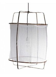 Ay Illuminate Z1 pendant lamp in bamboo and white cotton - Ø 67cm x H100cm - Ay illuminate