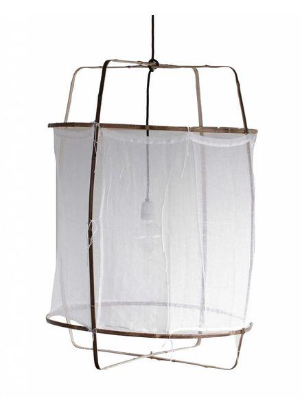 Ay Illuminate Suspension Z1 en bambou et coton blanc - Ø 67cm x H100cm - Ay Illuminate