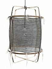 Ay Illuminate Lampe Suspension Bambou/Soie/Cachemire Z11 - Noire - Ø 48.5cm - Z11 - Ay illuminate