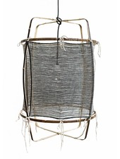 Ay Illuminate Bamboo Lamp Suspension / Silk / Cashmere - Ø 48.5cm - black Z11 - Ay illuminate