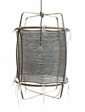 Ay Illuminate Z11 pendant lamp in bamboo and cashmere cover - Ø 48.5cm - black - Ay illuminate