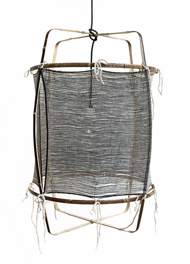 Ay Illuminate Lámpara de suspensión de bambú y cachemira - 48.5cm Ø - negro Z11 - Ay iluminate