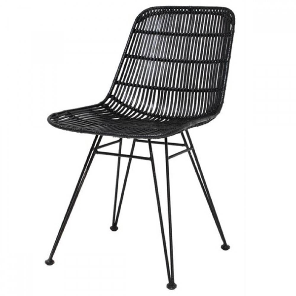 hk living rattan dining chair black hk living petite