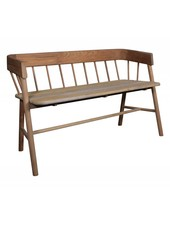 HK Living Bench / Outdoor sofa- brown natural teak sofa - HK Living