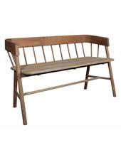 HK Living Bench / Outdoor sofa- brown natural teak sofa - HK Living