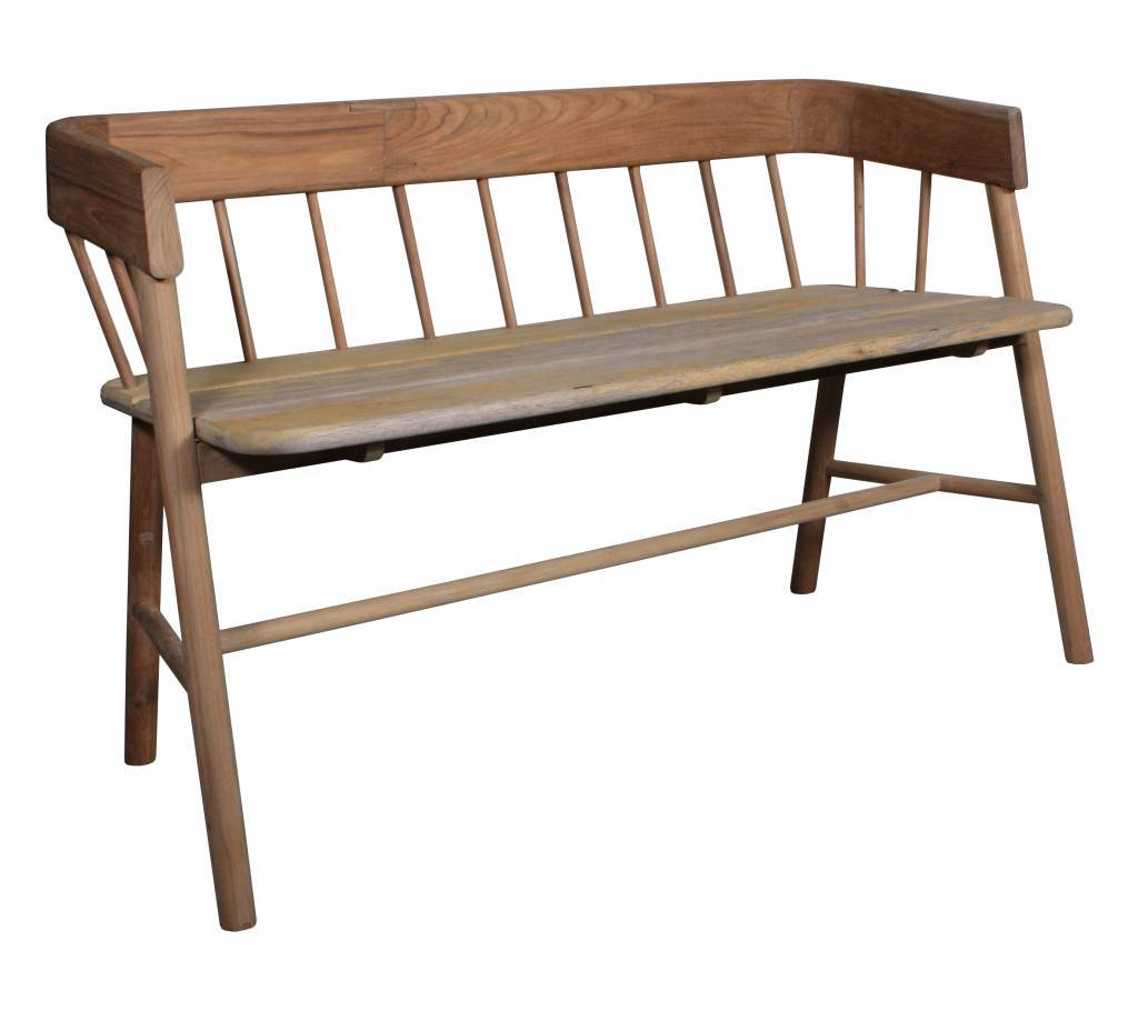 HK Living Bench / Outdoor sofa - brown natural teak sofa - HK Living
