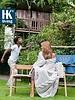 HK Living Banco al aire libre en teca natural marrón - HK Living