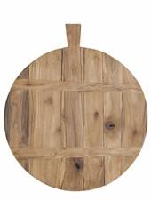 HK Living Breadboard in reclaimed teak Ø37.5cm - natural - HK Living