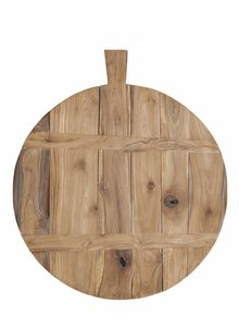 HK Living Tabla de Picar en Madera de Teca - Natural-  Ø37.5cm - HK Living