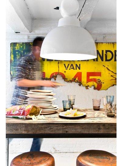 HK Living Set de 2 platos de Madera Natural - ∅24 - 30 cm - HK Living