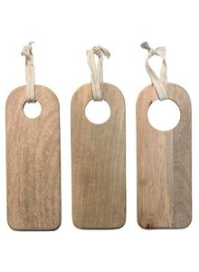 HK Living Set de 3 Tablas para Picar en Madera Natural - HK Living