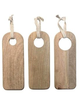 HK Living Set de 3 Planches à découper en bois naturel - HK Living