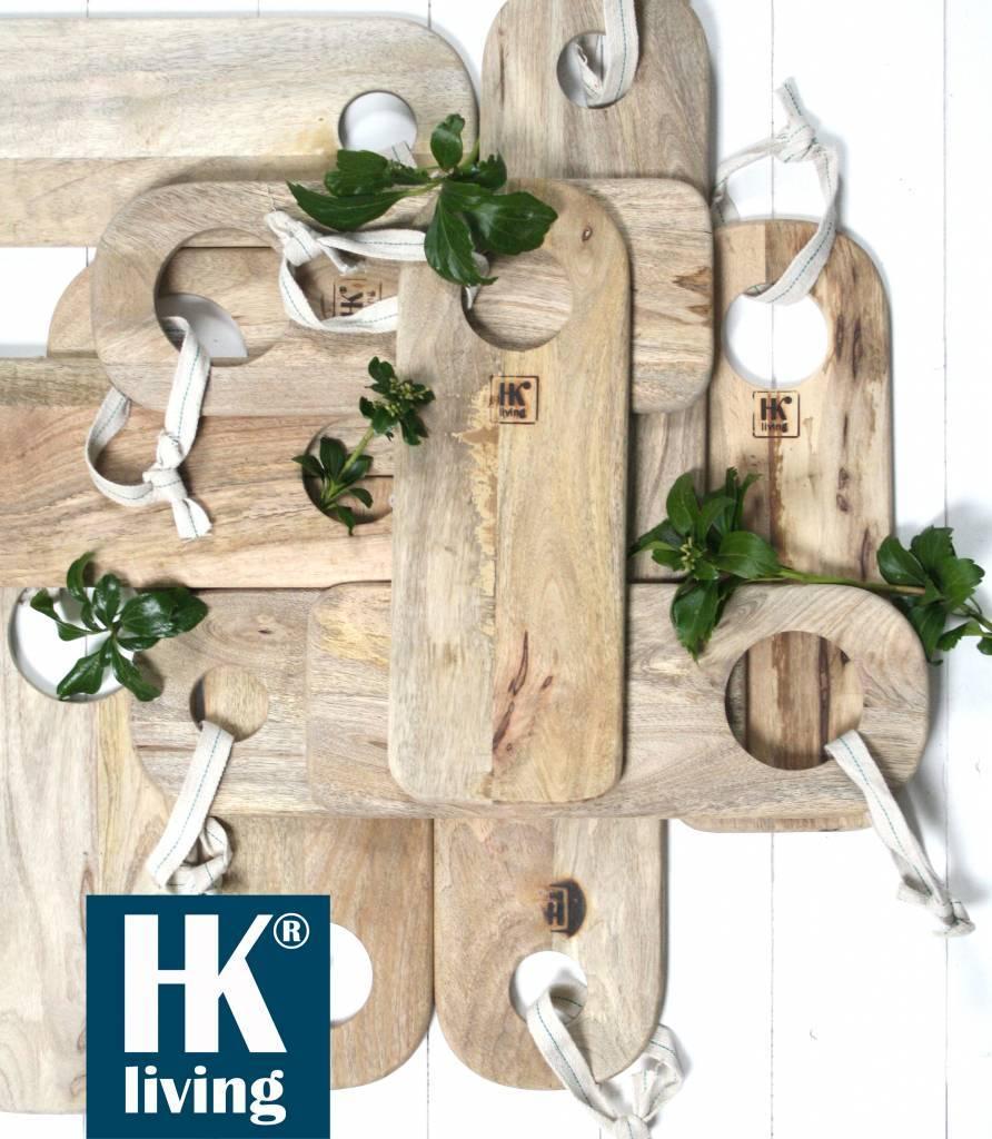 HK Living Set de 3 Tablas para Picar en Madera Natural - HK Living