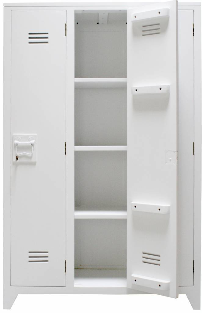 hk living armoire casier bois blanc hk living petite lily interiors. Black Bedroom Furniture Sets. Home Design Ideas