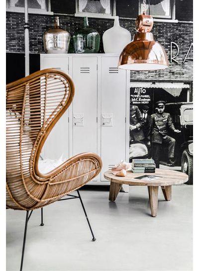 HK Living Locker closet wood - white- HK Living