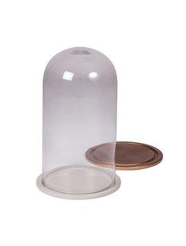 Broste Copenhagen Glass bell - copper - h23,5cm - Broste Copenhagen