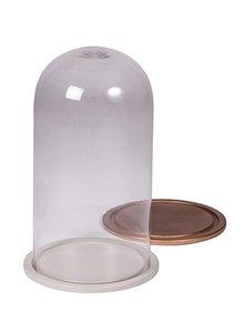 Broste Copenhagen Campana de vidrio - cobre - H35cm - Broste Copenhagen
