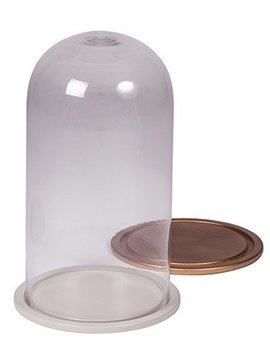 Broste Copenhagen Glass bell - copper - h35cm - Broste Copenhagen