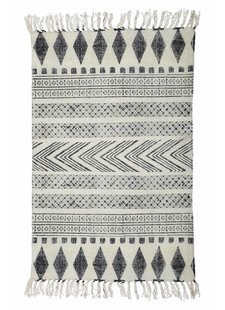 House Doctor Tapis Block - gris noir - 90x200cm - House Doctor