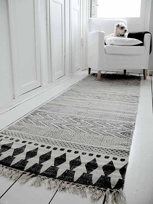 House Doctor Alfombra Block - gris negro - 90x200cm - House Doctor