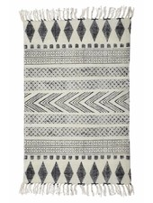 House Doctor Alfombra Block gris negro - 160x230cm - House Doctor