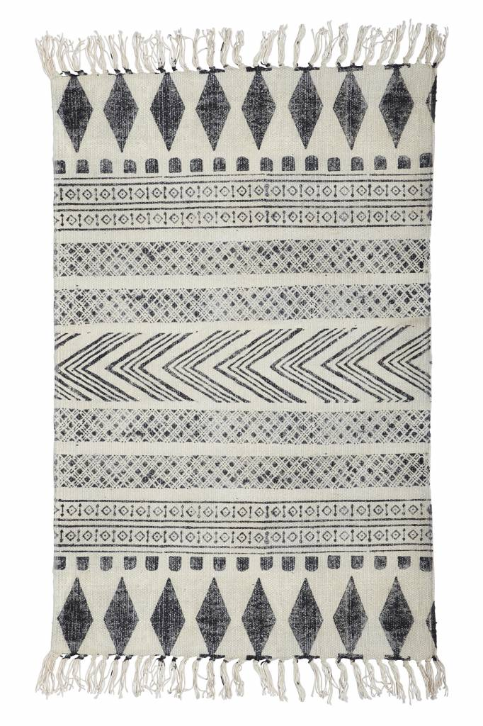 House Doctor Tapis Block - gris noir - 160x230cm - House Doctor