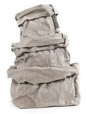 Uashmama Bolsa de papel lavable gris - Uashmama
