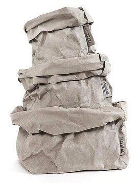Uashmama Washable Paper Bag in Light Grey - Uashmama