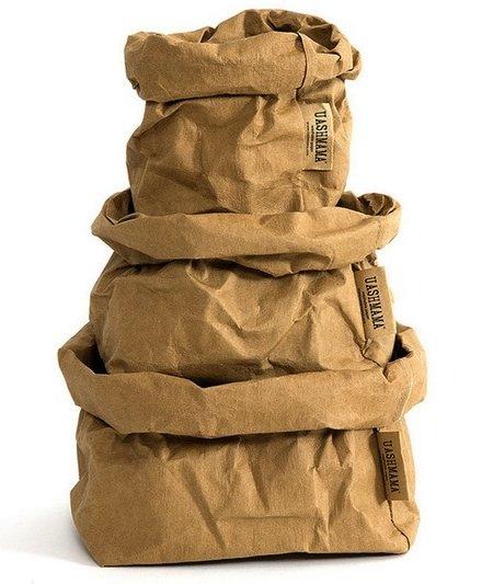 Uashmama Bolsa de papel lavable - Marrón - Uashmama