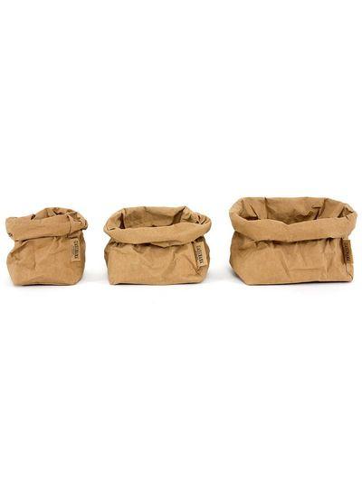 Uashmama Bolsa de papel lavable marrón - Uashmama