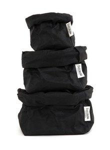 Uashmama Bolsa de papel lavable negro - Uashmama