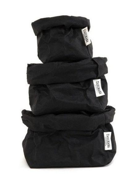 Uashmama Bolsa de papel lavable - Negro - Uashmama