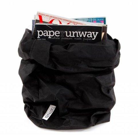 Uashmama Sac en Papier Lavable Noir - Uashmama