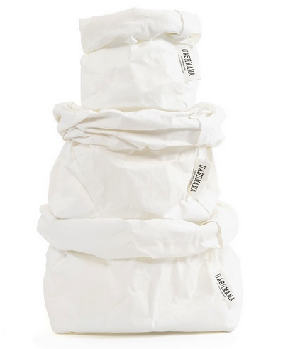 Uashmama Washable Paper Bag - White - Uashmama