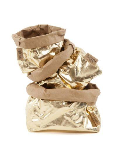 Uashmama Bolsa de papel lavable dorada - Uashmama
