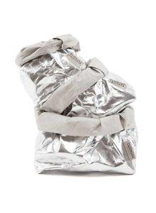 Uashmama Bolsa de papel lavable plateada - Uashmama