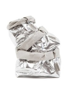 Uashmama Washable Paper Bag - Laminated silver and grey - Uashmama