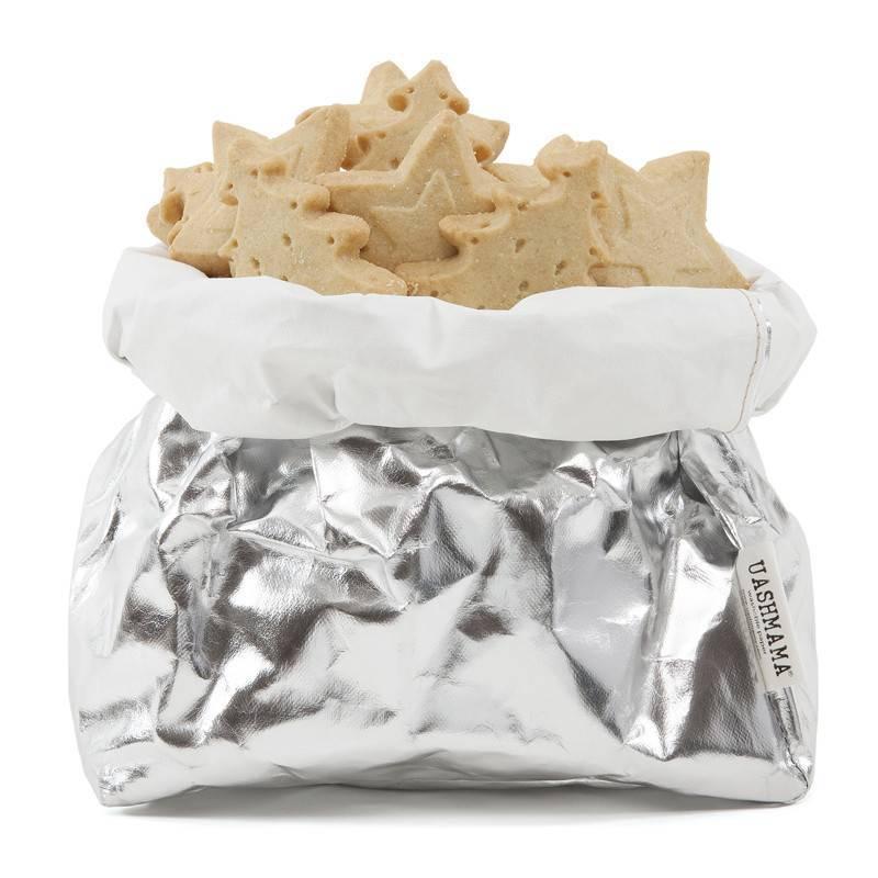 Uashmama Washable Paper Bag - Laminated silver and grey - Uashmama