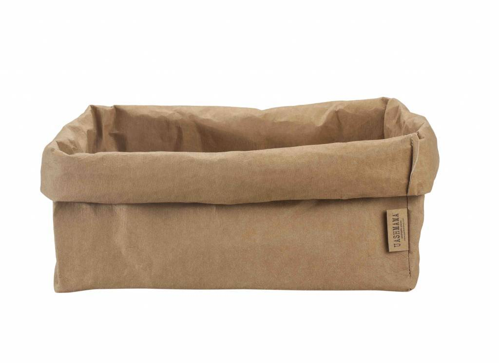 Uashmama bolsa para revistasde papel lavable natural for Papel pared lavable